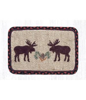 WW-19 Moose/Pinecone Wicker Weave Swatch 10 x 15 x 0.17 in.