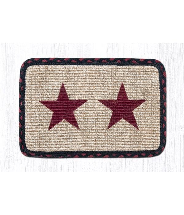 WW-344 Burgundy Star Wicker Weave Swatch 10 x 15 x 0.17 in.