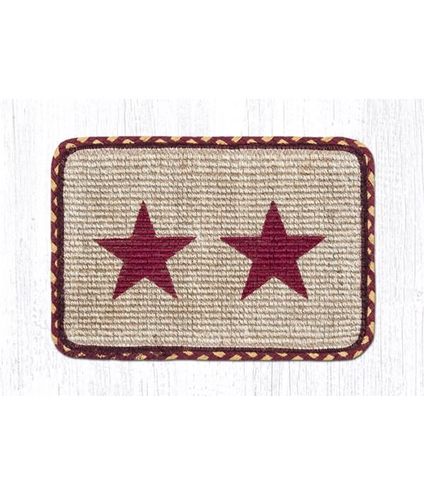 WW-357 Burgundy Star Wicker Weave Swatch 10 x 15 x 0.17 in.