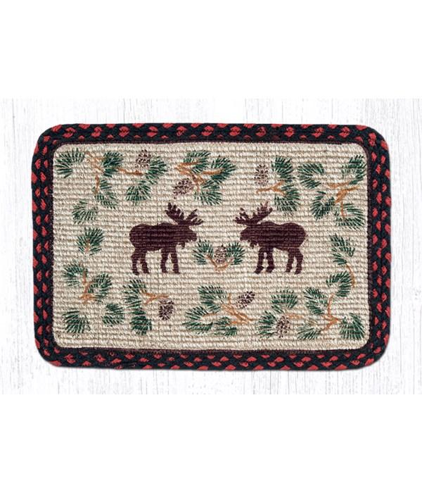 WW-19 Moose/Pinecone Wicker Weave Placemat 13 in.x19 in.x0.17 in.