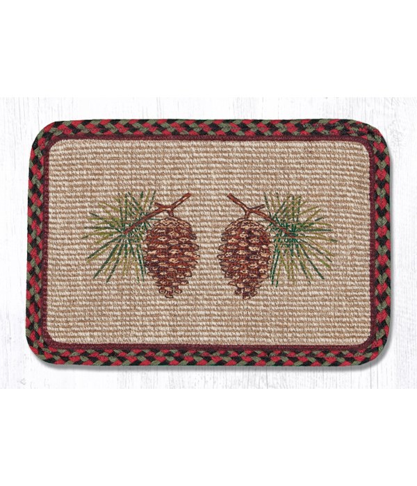 WW-81 Pinecone Wicker Weave Placemat 13 in.x19 in.x0.17 in.