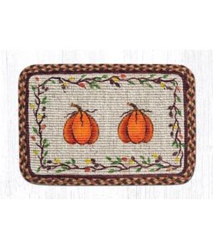 WW-222 Harvest Pumpkin Wicker Weave Placemat 13 in.x19 in.x0.17 in.