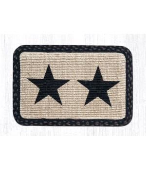 WW-313 Black Star Wicker Weave Placemat 13 in.x19 in.x0.17 in.