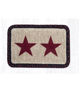 WW-344 Burgundy Star Wicker Weave Placemat 13 in.x19 in.x0.17 in.