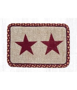 WW-357 Burgundy Star Wicker Weave Placemat 13 in.x19 in.x0.17 in.