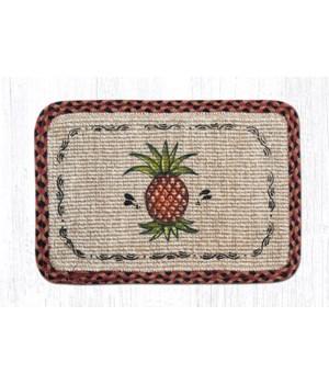 WW-375 Pineapple Wicker Weave Placemat 13 in.x19 in.x0.17 in.