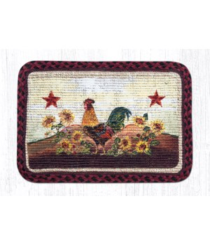 WW-391 Morning Rooster Wicker Weave Placemat 13 in.x19 in.x0.17 in.