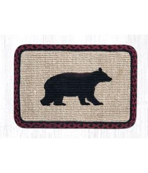 WW-395 Cabin Bear Wicker Weave Placemat 13 in.x19 in.x0.17 in.