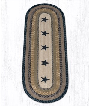 OP-99 Black Stars Oval Patch 2'x6'x0.17 in.