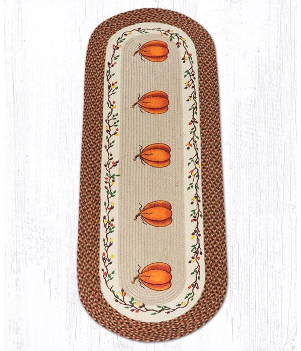 OP-222 Harvest Pumpkin Oval Patch 2'x6'x0.17 in.