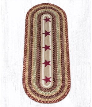 OP-357 Burgundy Stars Oval Patch 2'x6'x0.17 in.