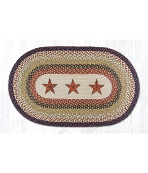 OP-19 Barn Stars Oval Patch 27 x 45 x 0.17 in.