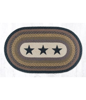 OP-99 Black Stars Oval Patch 27 x 45 x 0.17 in.