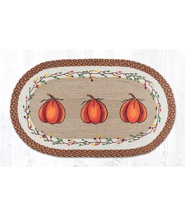 OP-222 Harvest Pumpkin Oval Patch 27 x 45 x 0.17 in.