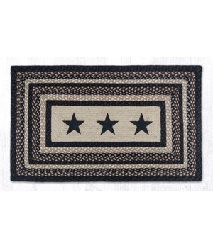 PP-313 Black Stars Oblong Patch 27 x 45 x 0.17 in.