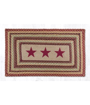 PP-357 Burgundy Stars Oblong Patch 27 x 45 x 0.17 in.