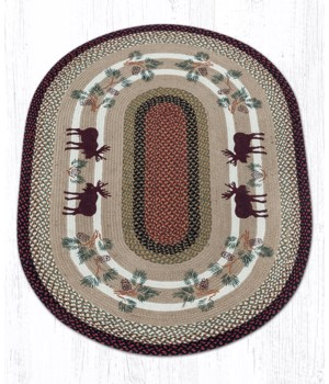 OP-19 Moose/Pinecone Oval Patch 4'x6'x0.17 in.