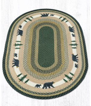 OP-116 Bear Timbers Oval Patch 4'x6'x0.17 in.
