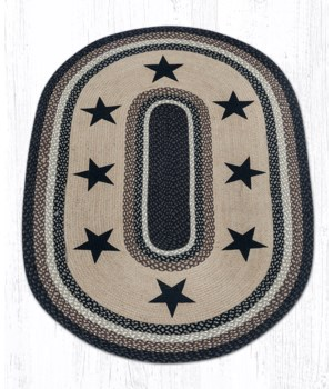 OP-313 Black Stars Oval Patch 4'x6'x0.17 in.