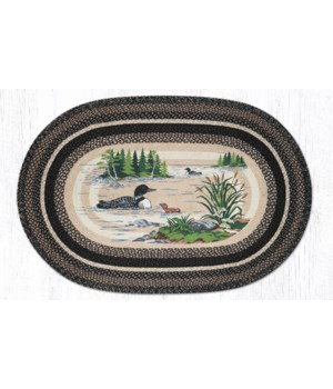 OP-313 Loons Oval Patch 4'x6'x0.17 in.