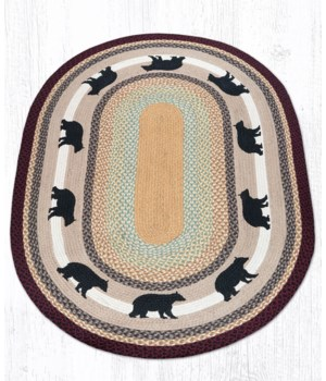 OP-395 Cabin Bear Oval Patch 4'x6'x0.17 in.
