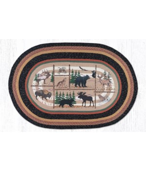 OP-583 Lodge Animals Oval Patch 4'x6'x0.17 in.