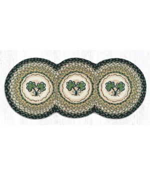 TCP-116 Shamrock Printed Tri Circle Runner 15 in.x36 in.x0.17 in.
