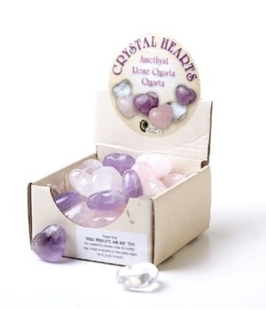 Gemstone Hearts 30pc assorted Quartz