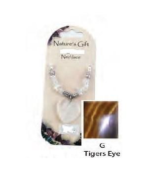 Gold Tiger Eye Heart Pendant Set of 6