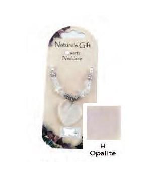 Opalite Heart Pendant Set of 6