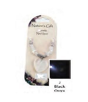 Black Onyx Heart Pendant Set of 6