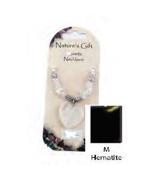 Hematite Heart Pendant Set of 6