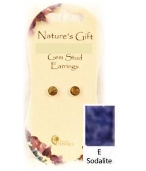 Sodalite 6MM Stud Earring Set of 6