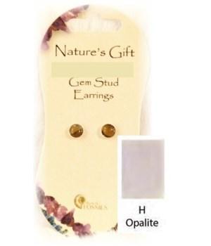 Opalite 6MM Stud Earring Set of 6