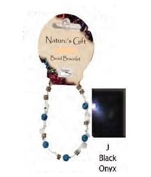 Black Onyx 6MM Bracelet Set of 6