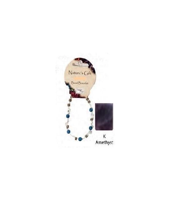Amethyst 6MM Bracelet Set of 6