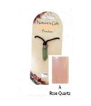 Rose Quartz Gem Point Pendant Set of 6