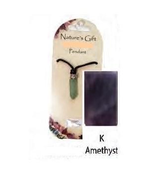 Amethyst Gem Point Pendant Set of 6