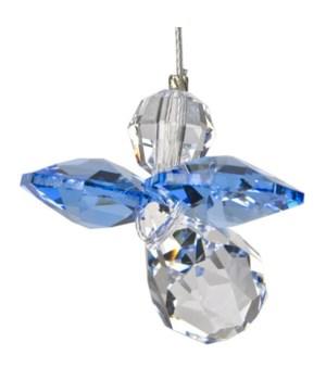 Saphire Blue Hanging Crystal Angel Set of 6