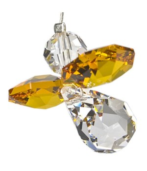 Topaz Yellow Hanging Crystal Angel Set of 6