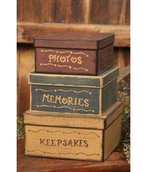 Nesting Boxes - Photos, Memories, Keepsakes