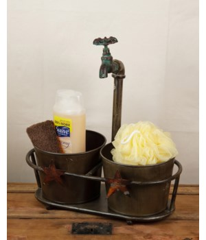 Faucet Planter Stand With 2 Buckets
