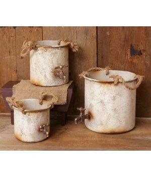 Faucets - Tin Buckets, Nested