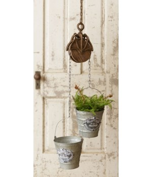 Planter - Pulley And Buckets