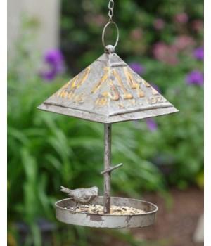 Bird Feeder - License Plate Roof