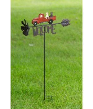 Garden Stake - Welcome Truck 35 in. x 20 in.