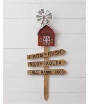 Garden Stake - Farm Fresh 34 in. X 15 in.