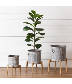 Planters - Buckets On Stands