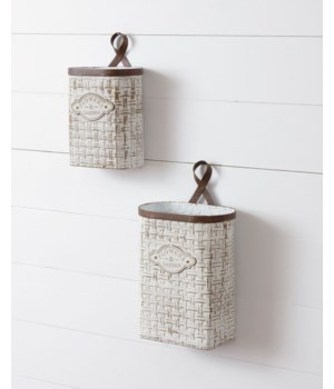 Wall Planters - Flowers And Garden 15 H x 9 W x 5.5 D, 11.5 H x 7 W x 4.5 D in.