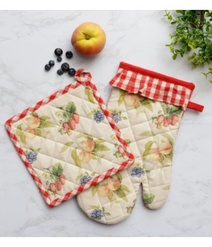 Freshly Picked - Oven Mitt And Pot Holder Oven Mitt 13 L x 7 W  Pot Holder 8 L x 8 W in.